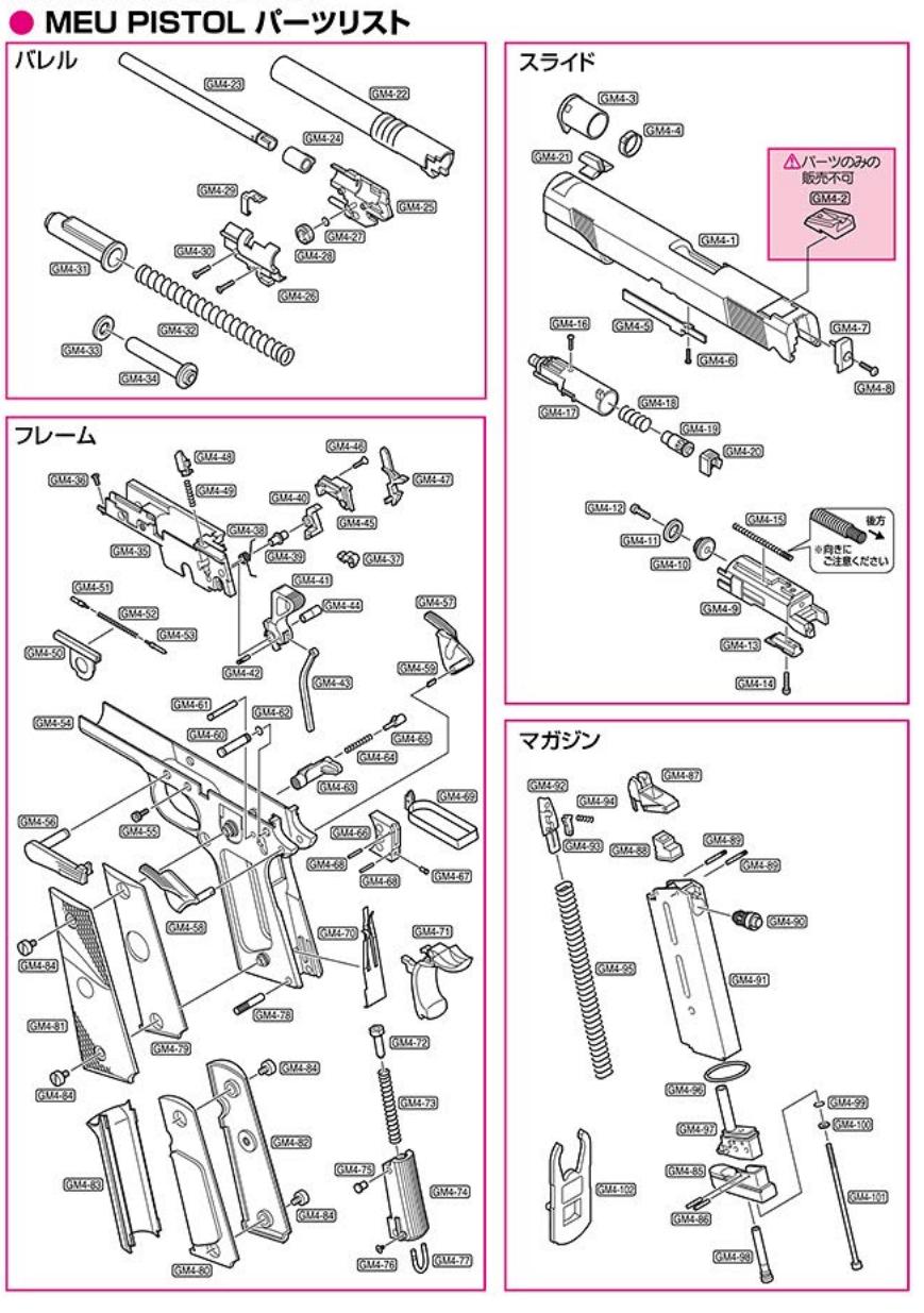TOKYO MARUI M.E.U. Parts