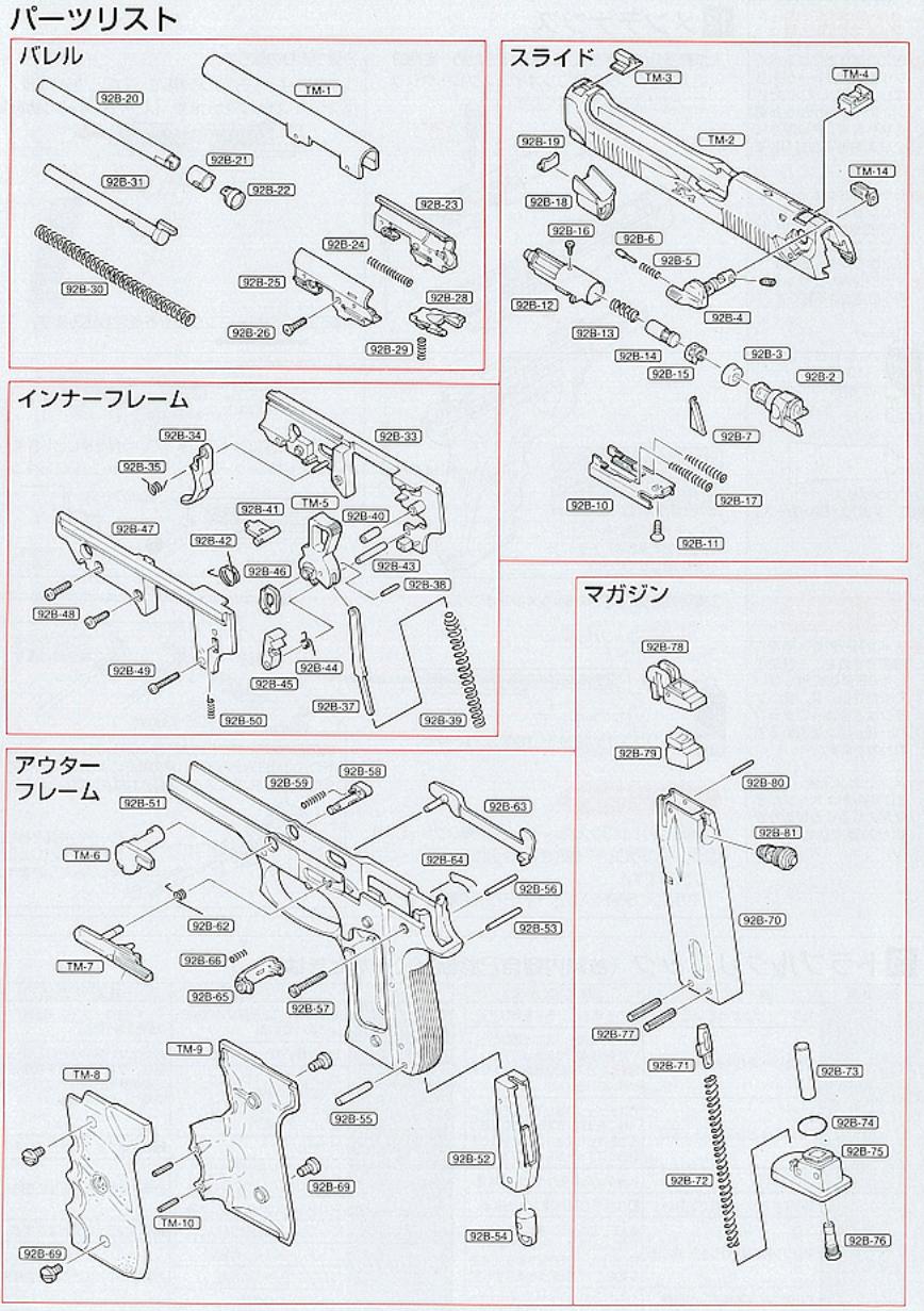 TOKYO MARUI Tactical Master Parts