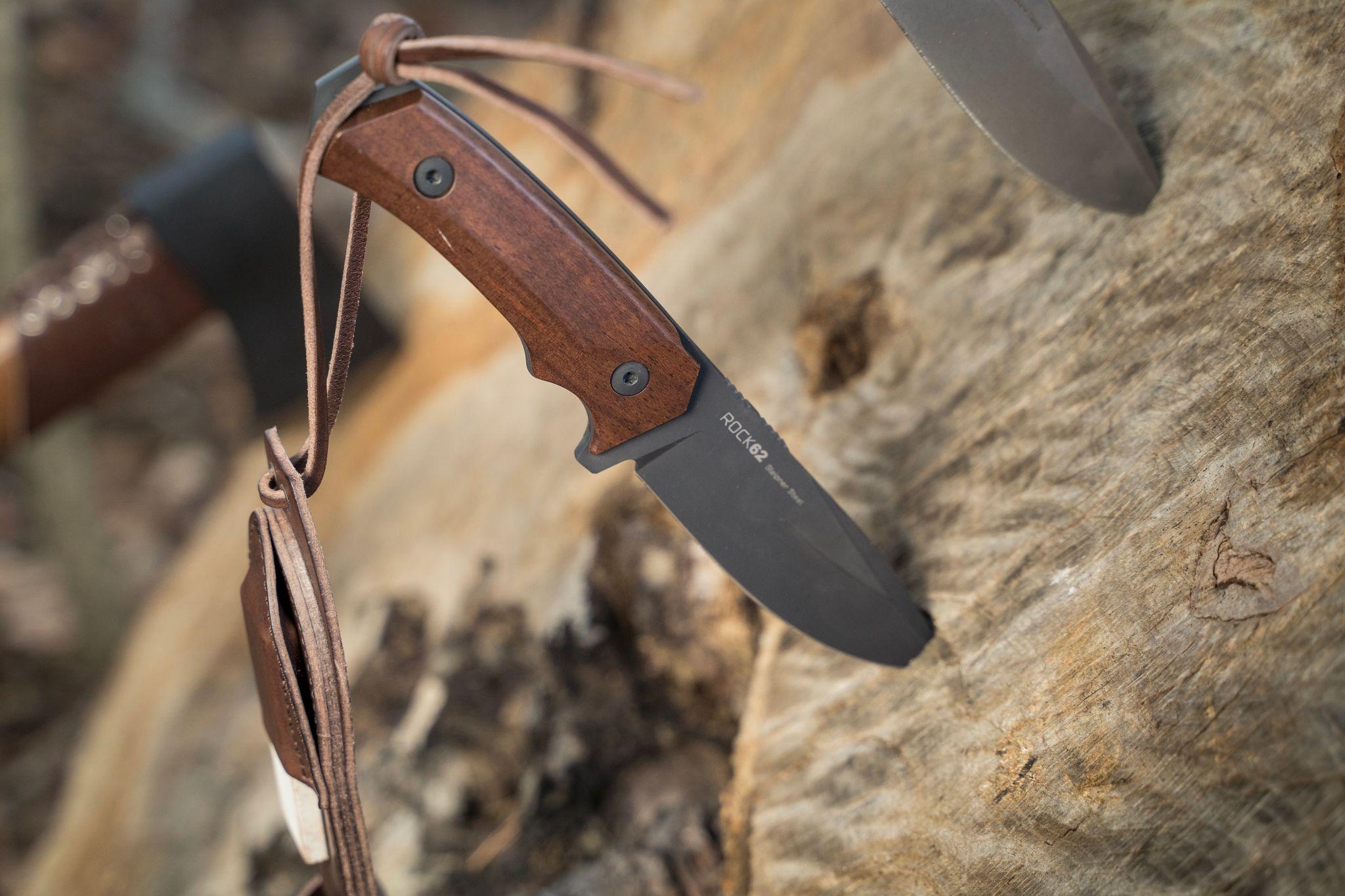 WOOX Rock 62 Walnut Knife Plain