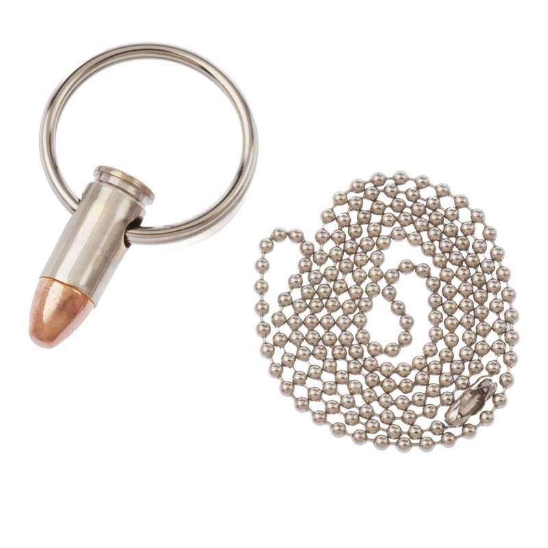 LUCKY SHOT Bullet Keychain - 9mm