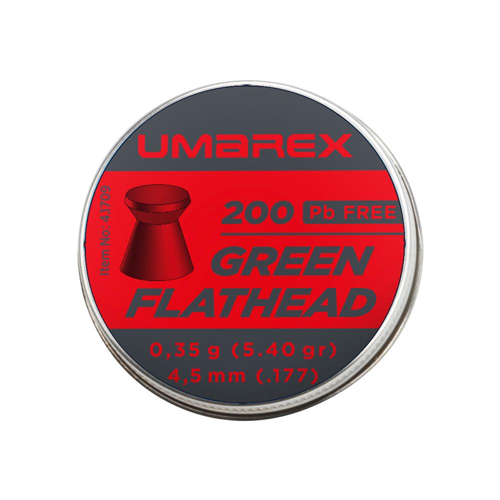 UMAREX Pellet Green Flathead 4.5 mm 0.35g 200pcs