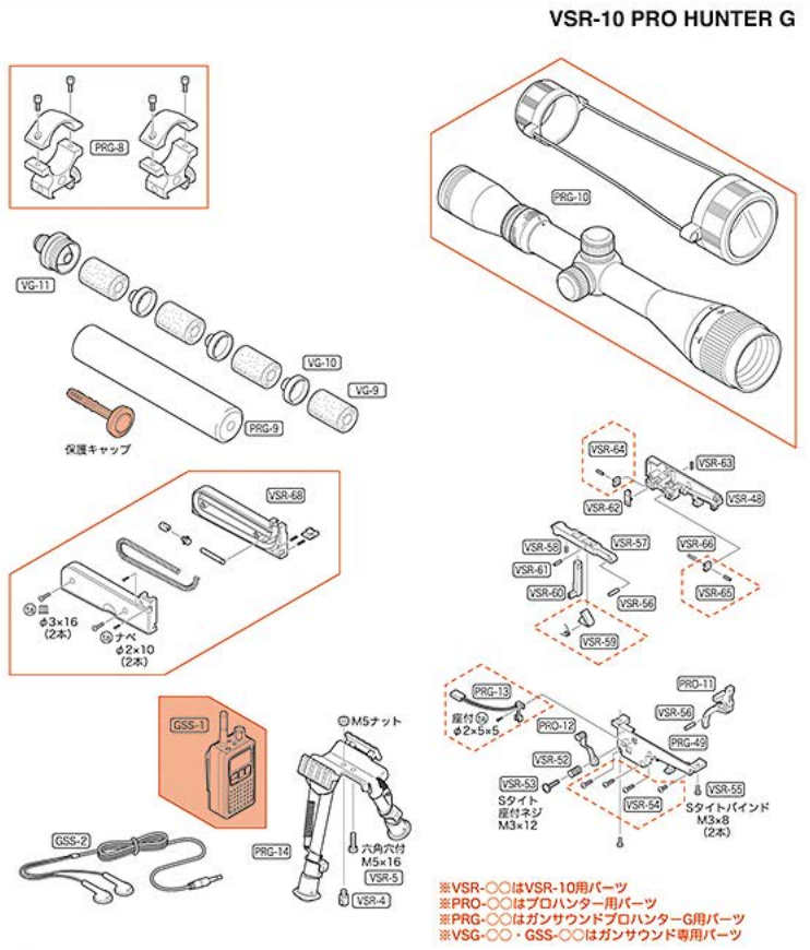 TOKYO MARUI VSR-10 Parts