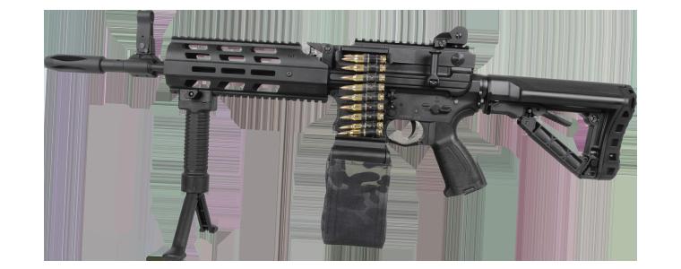 G&G Airsoft Rifle CM16 LMG Stealth